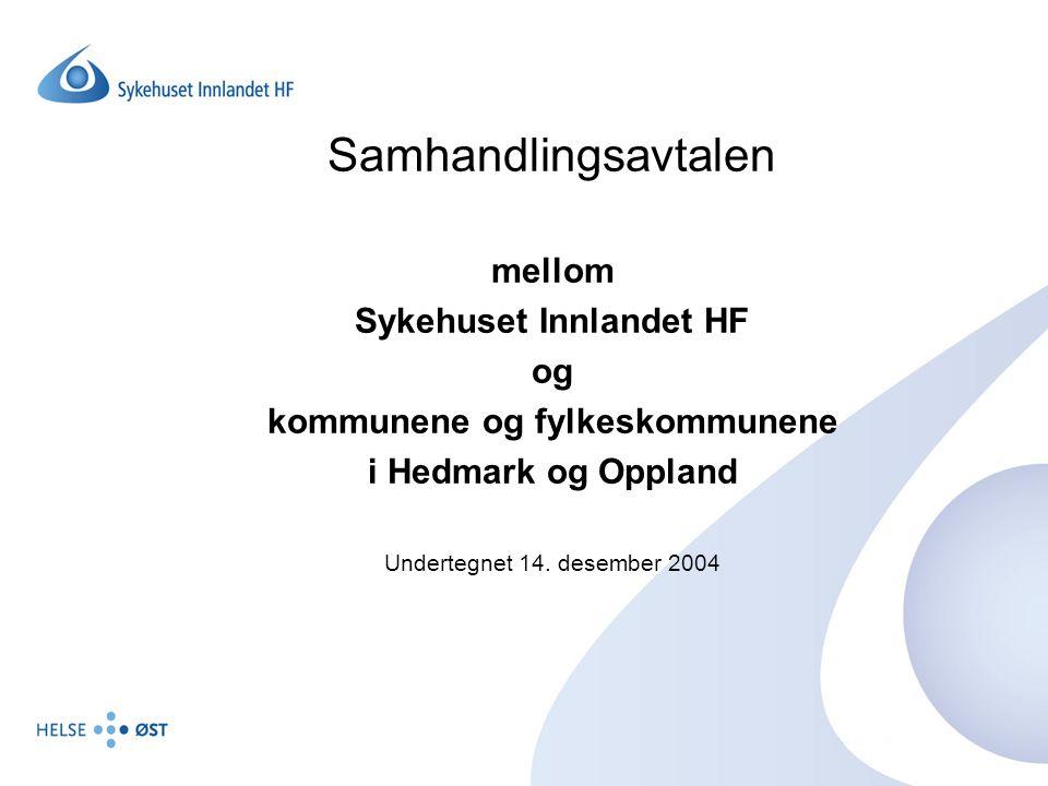 Sykehuset Innlandet HF kommunene og fylkeskommunene