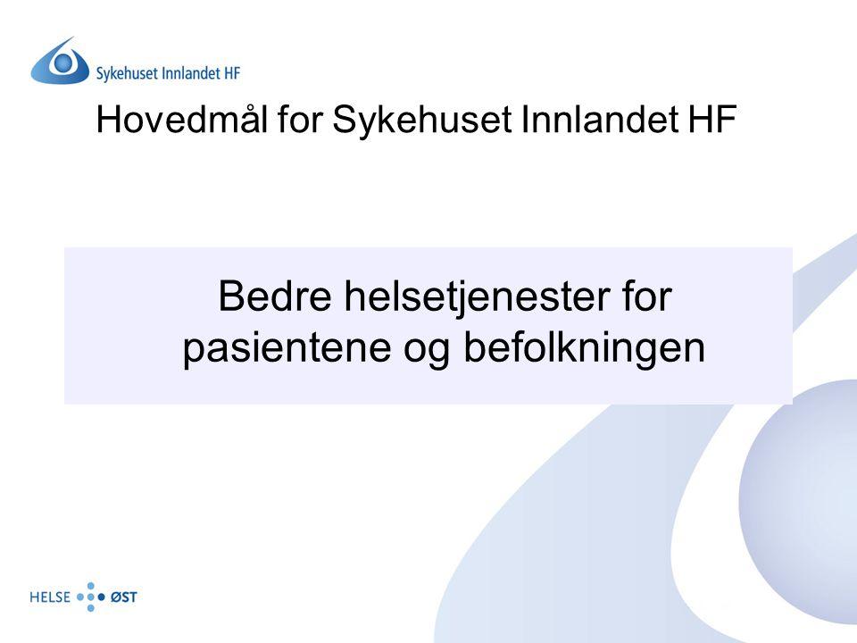 Hovedmål for Sykehuset Innlandet HF