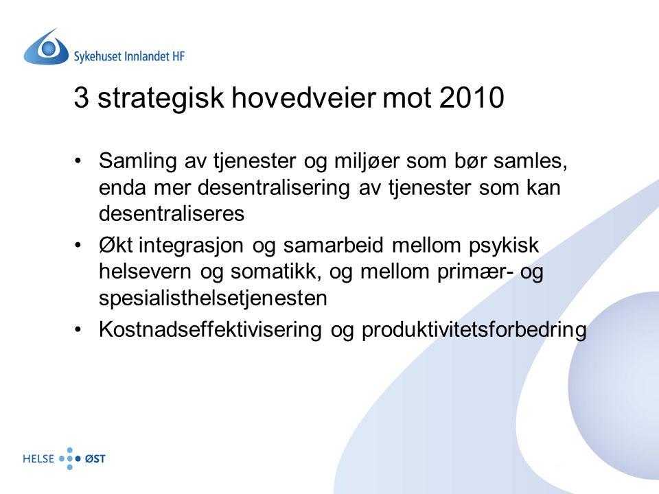 3 strategisk hovedveier mot 2010