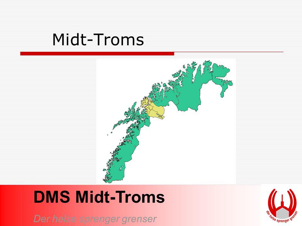 Midt-Troms DMS Midt-Troms omfatter 10 kommuner.