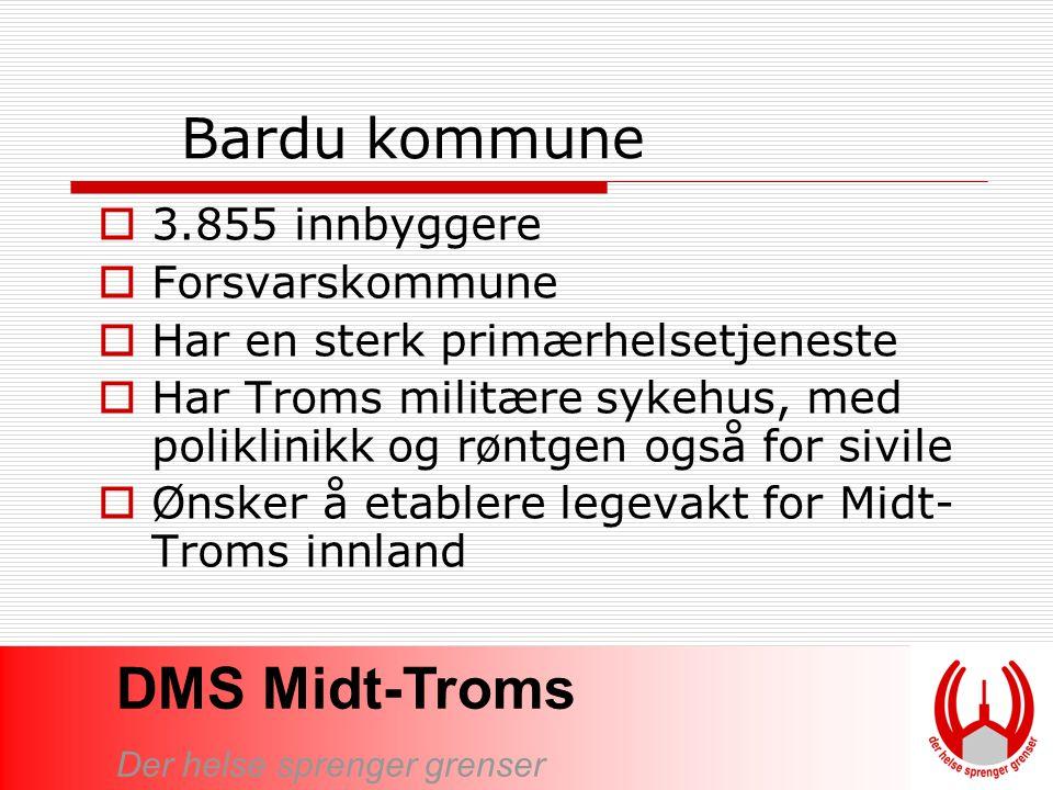 Bardu kommune 3.855 innbyggere Forsvarskommune