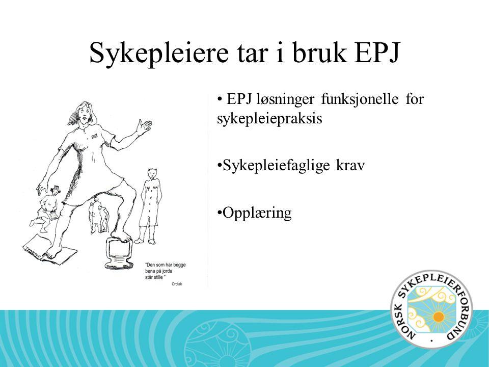Sykepleiere tar i bruk EPJ