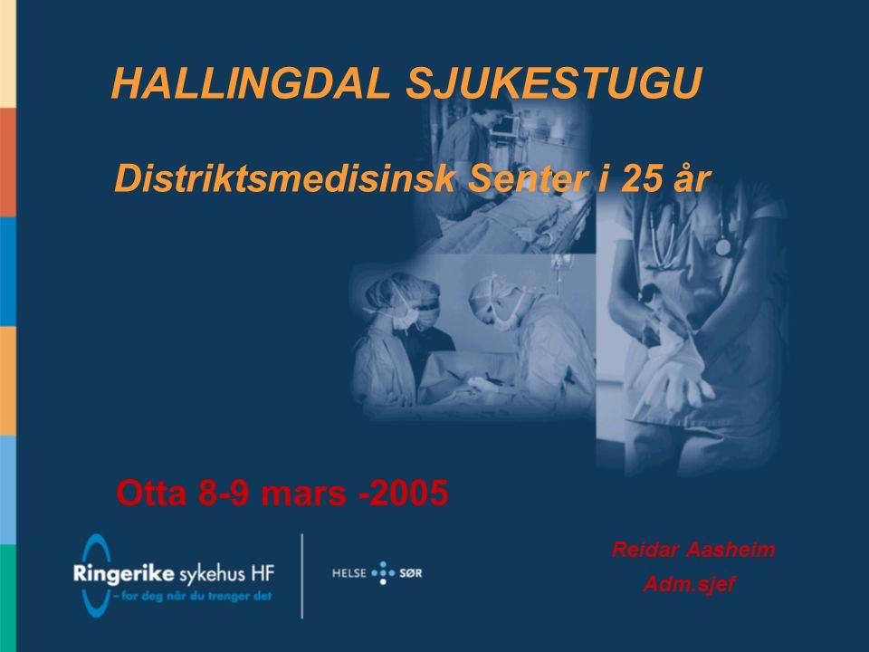 HALLINGDAL SJUKESTUGU Distriktsmedisinsk Senter i 25 år