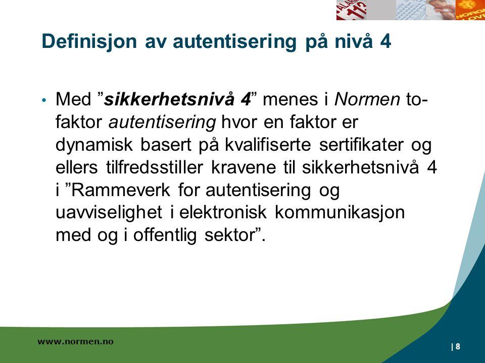 Definisjon av autentisering på nivå 4