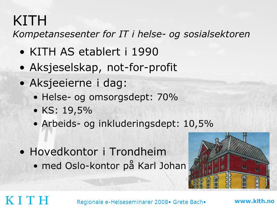 KITH Kompetansesenter for IT i helse- og sosialsektoren