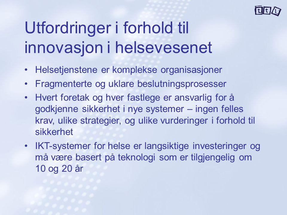 Utfordringer i forhold til innovasjon i helsevesenet