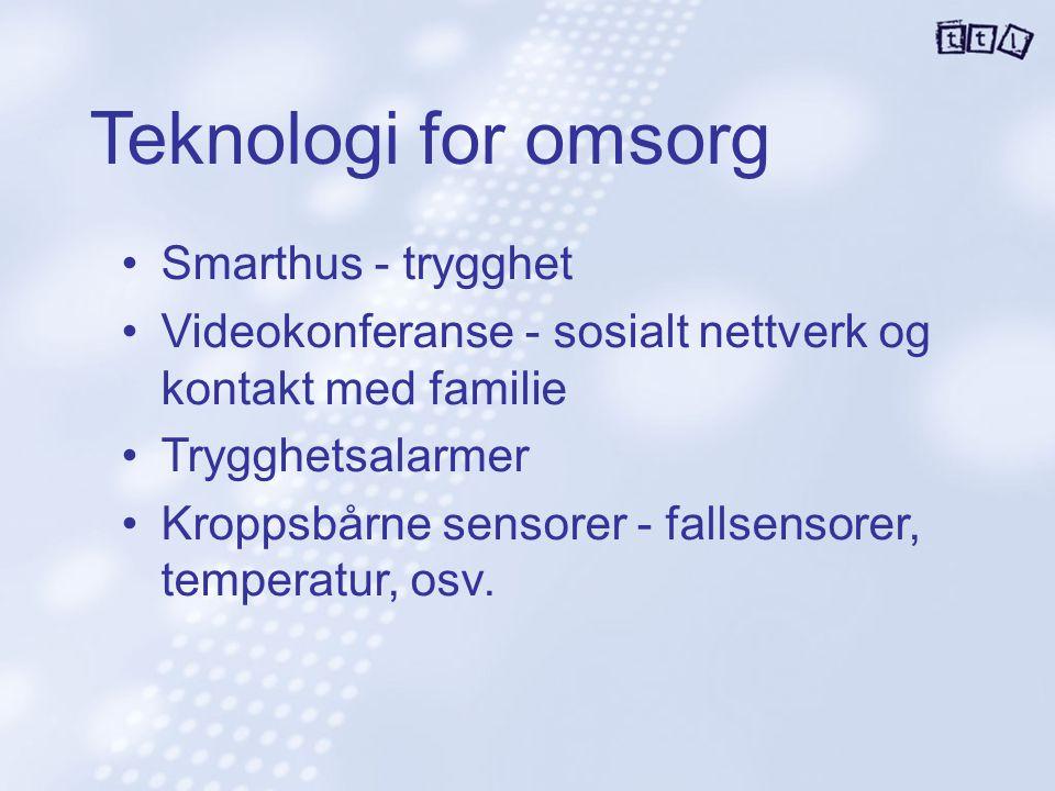 Teknologi for omsorg Smarthus - trygghet