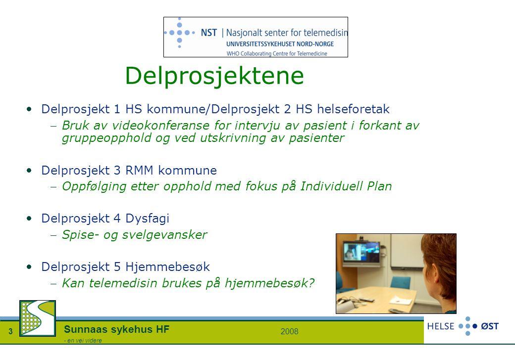Delprosjektene Delprosjekt 1 HS kommune/Delprosjekt 2 HS helseforetak