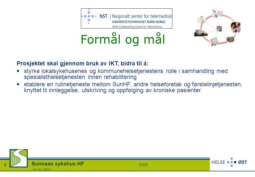 Formål og mål Prosjektet skal gjennom bruk av IKT, bidra til å: