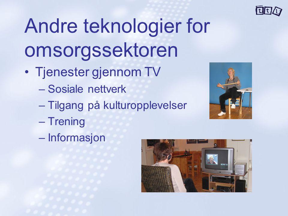 Andre teknologier for omsorgssektoren