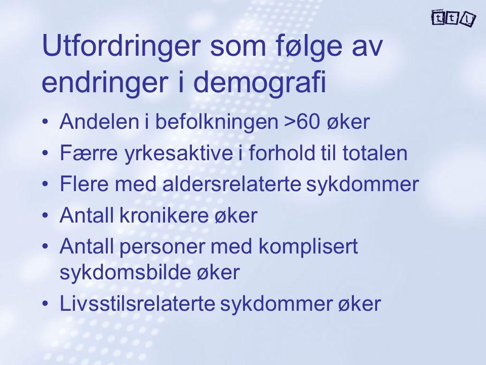 Utfordringer som følge av endringer i demografi