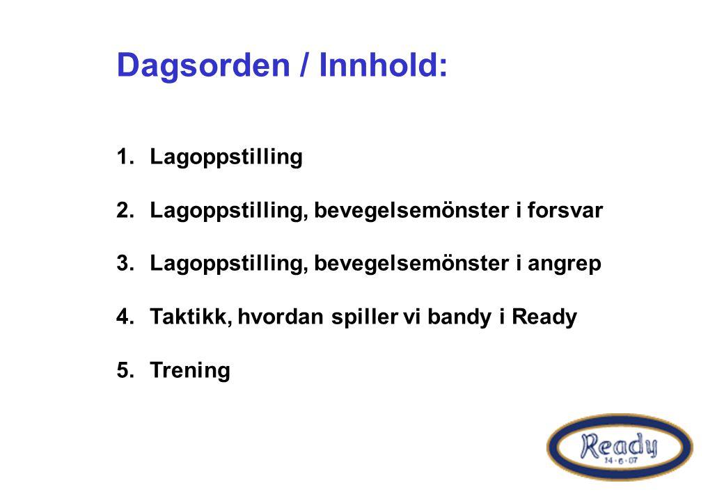 Dagsorden / Innhold: Lagoppstilling