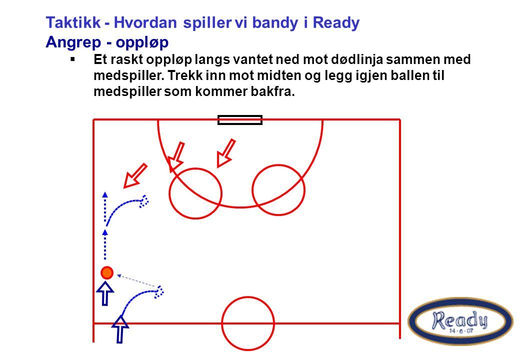 Taktikk - Hvordan spiller vi bandy i Ready Angrep - oppløp
