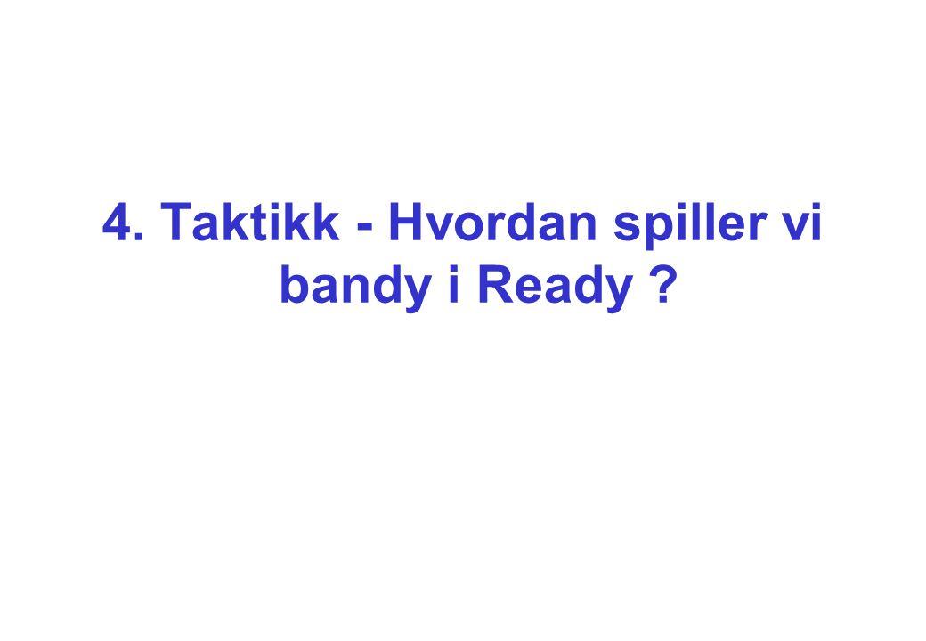 4. Taktikk - Hvordan spiller vi bandy i Ready