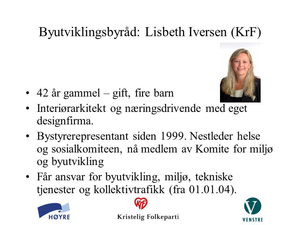 Byutviklingsbyråd: Lisbeth Iversen (KrF)