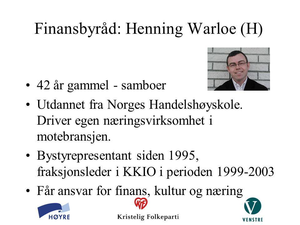 Finansbyråd: Henning Warloe (H)