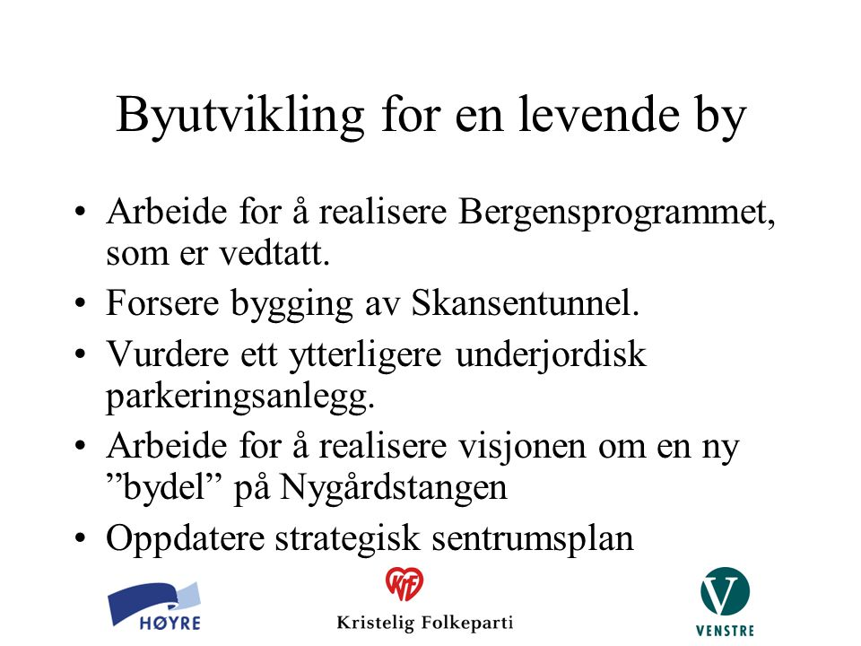 Byutvikling for en levende by
