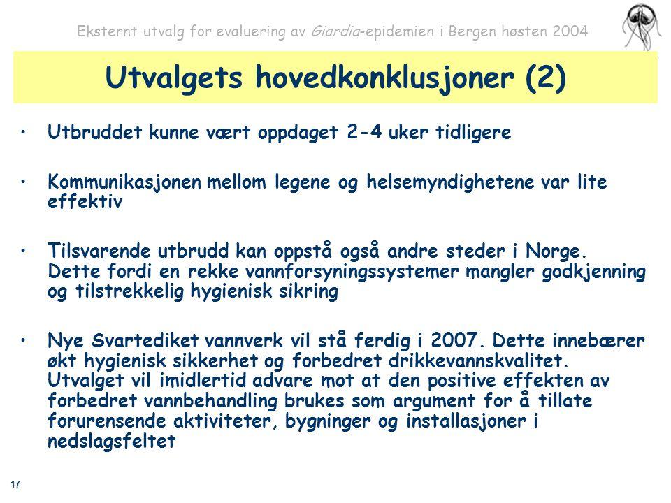 Utvalgets hovedkonklusjoner (2)