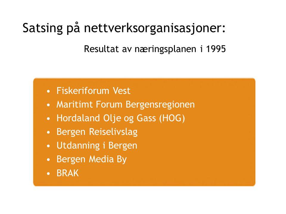 Satsing på nettverksorganisasjoner: Resultat av næringsplanen i 1995