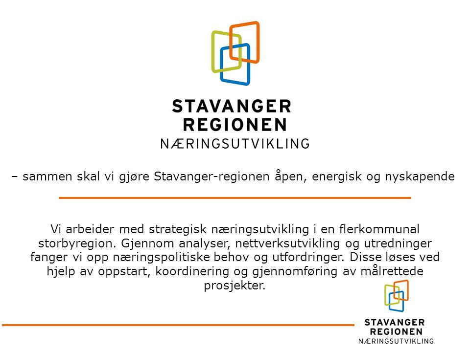 – sammen skal vi gjøre Stavanger-regionen åpen, energisk og nyskapende