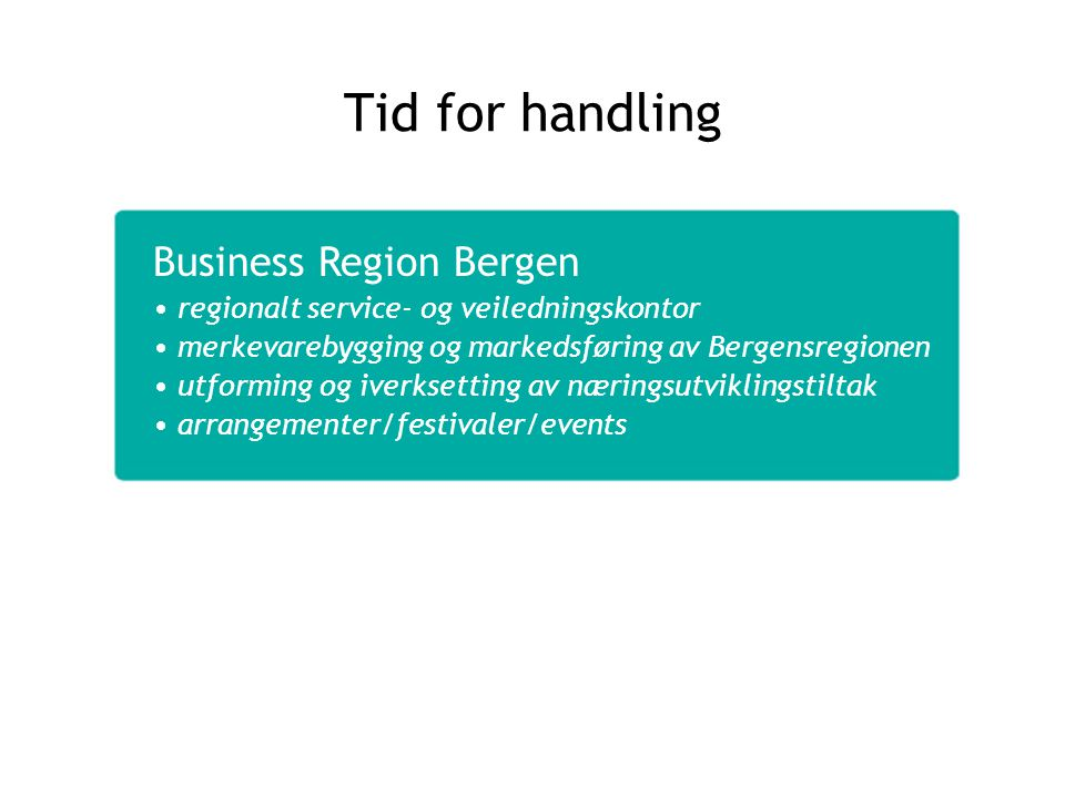 Tid for handling Business Region Bergen