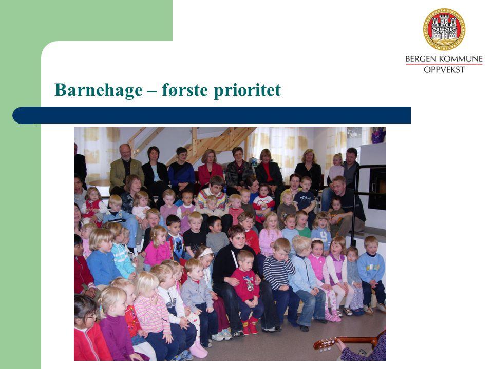 Barnehage – første prioritet