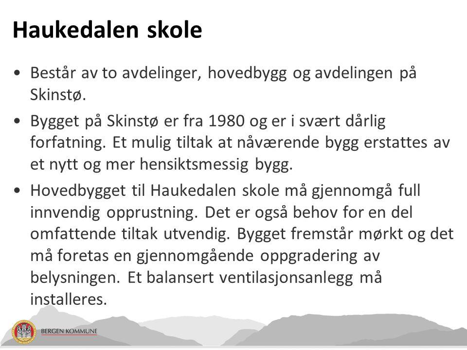 Haukedalen skole Består av to avdelinger, hovedbygg og avdelingen på Skinstø.