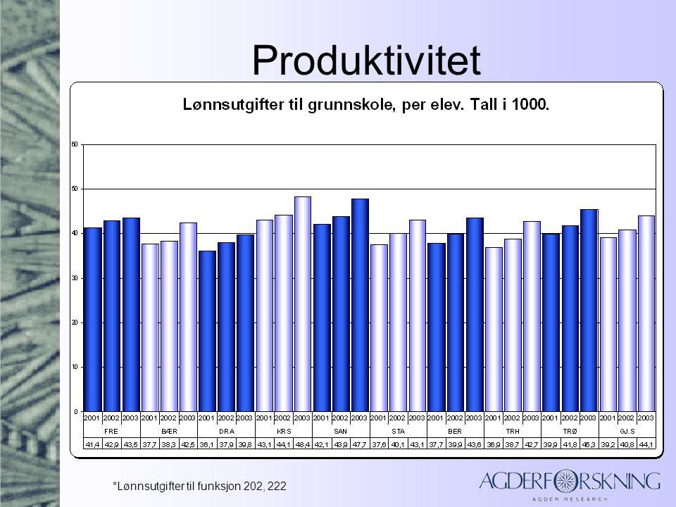 Produktivitet Store variasjoner mellom kommunene