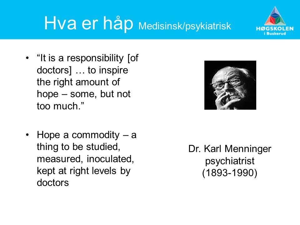Hva er håp Medisinsk/psykiatrisk