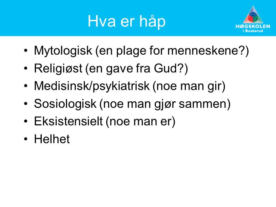 Hva er håp Mytologisk (en plage for menneskene )