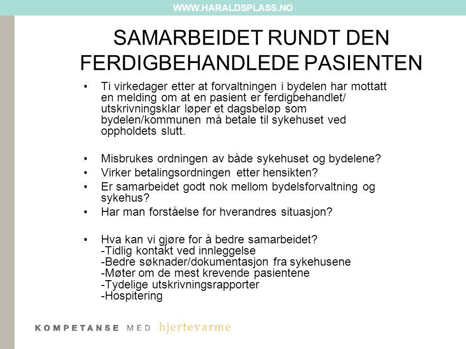 SAMARBEIDET RUNDT DEN FERDIGBEHANDLEDE PASIENTEN