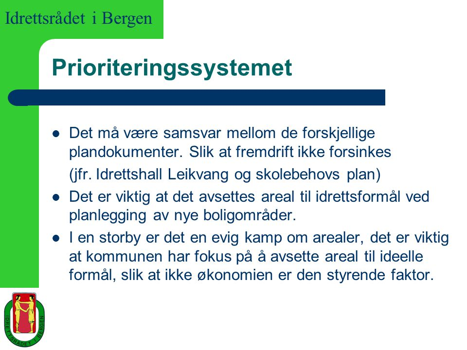 Prioriteringssystemet