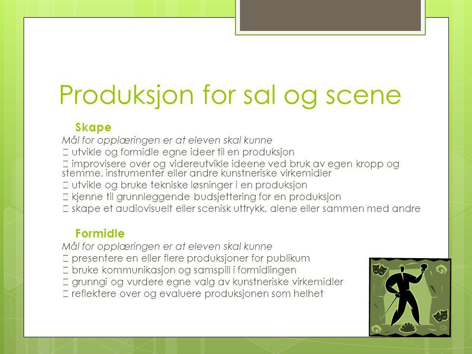 Produksjon for sal og scene