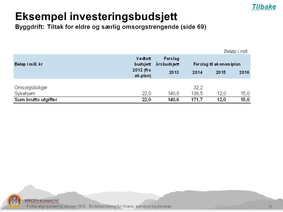 Tilbake Eksempel investeringsbudsjett Byggdrift: Tiltak for eldre og særlig omsorgstrengende (side 69)