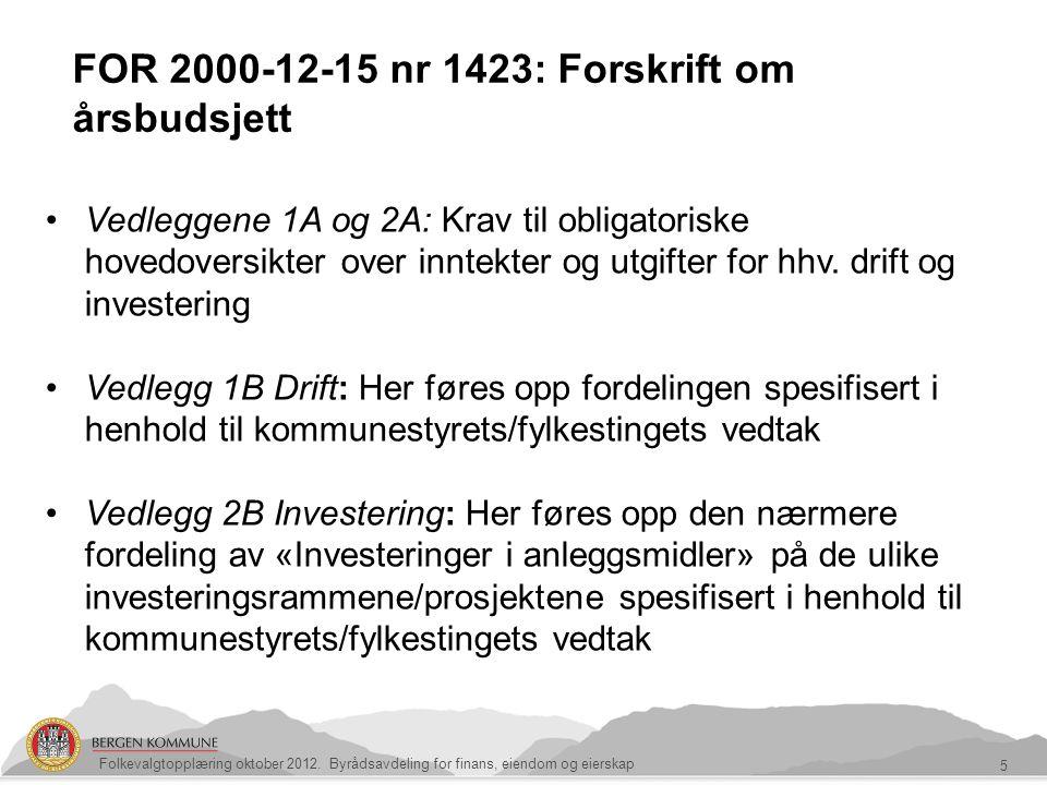 FOR 2000-12-15 nr 1423: Forskrift om årsbudsjett