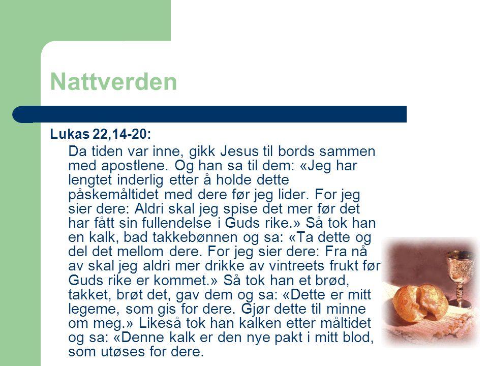 Nattverden Lukas 22,14-20: