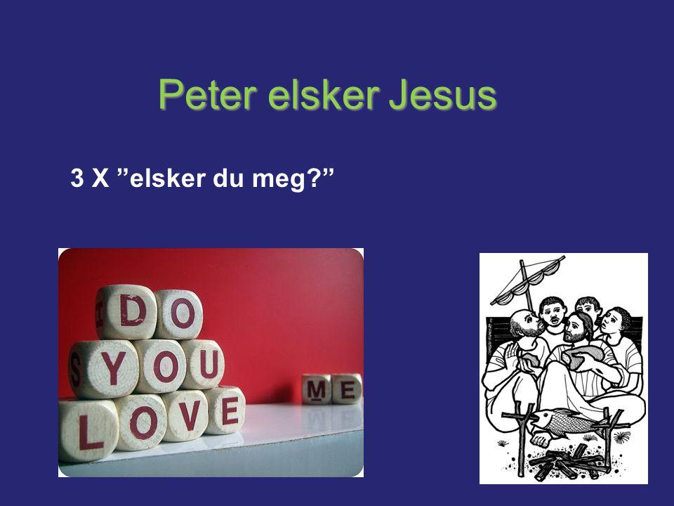 Peter elsker Jesus 3 X elsker du meg