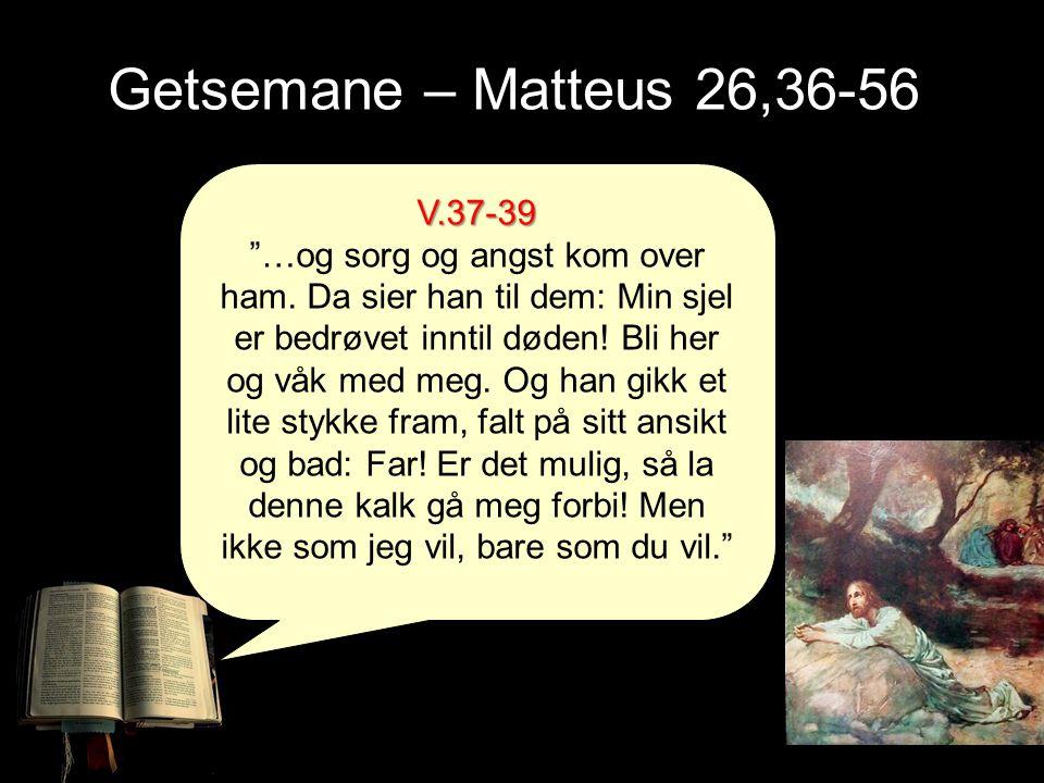Getsemane – Matteus 26,36-56 V.37-39