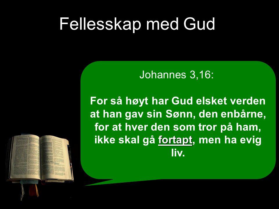Fellesskap med Gud Johannes 3,16: