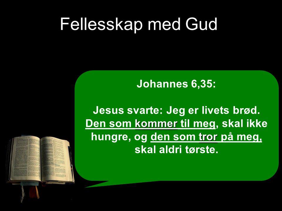 Fellesskap med Gud Johannes 6,35: