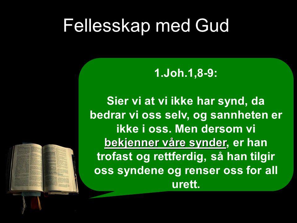 Fellesskap med Gud 1.Joh.1,8-9: