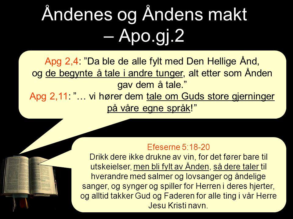 Åndenes og Åndens makt – Apo.gj.2