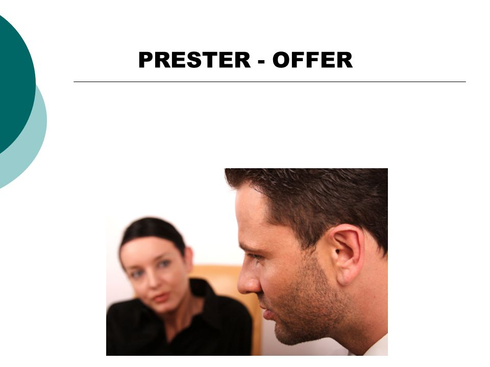 PRESTER - OFFER