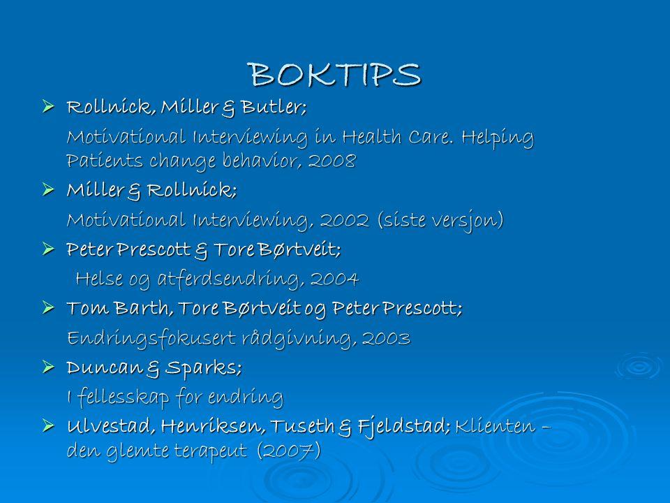 BOKTIPS Rollnick, Miller & Butler;