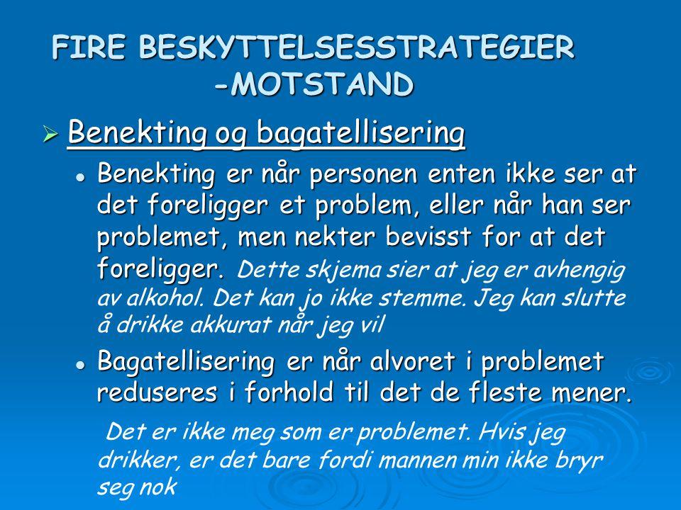 FIRE BESKYTTELSESSTRATEGIER -MOTSTAND