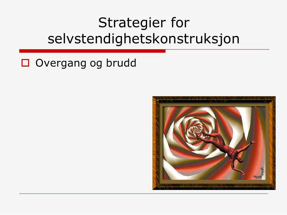 Strategier for selvstendighetskonstruksjon