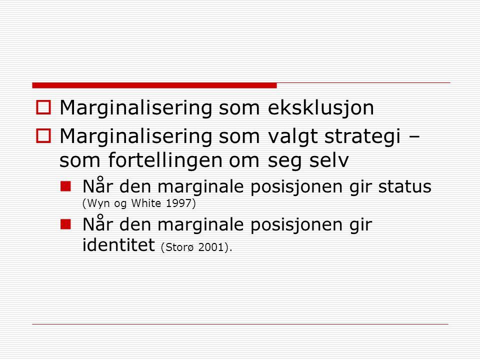 Marginalisering som eksklusjon