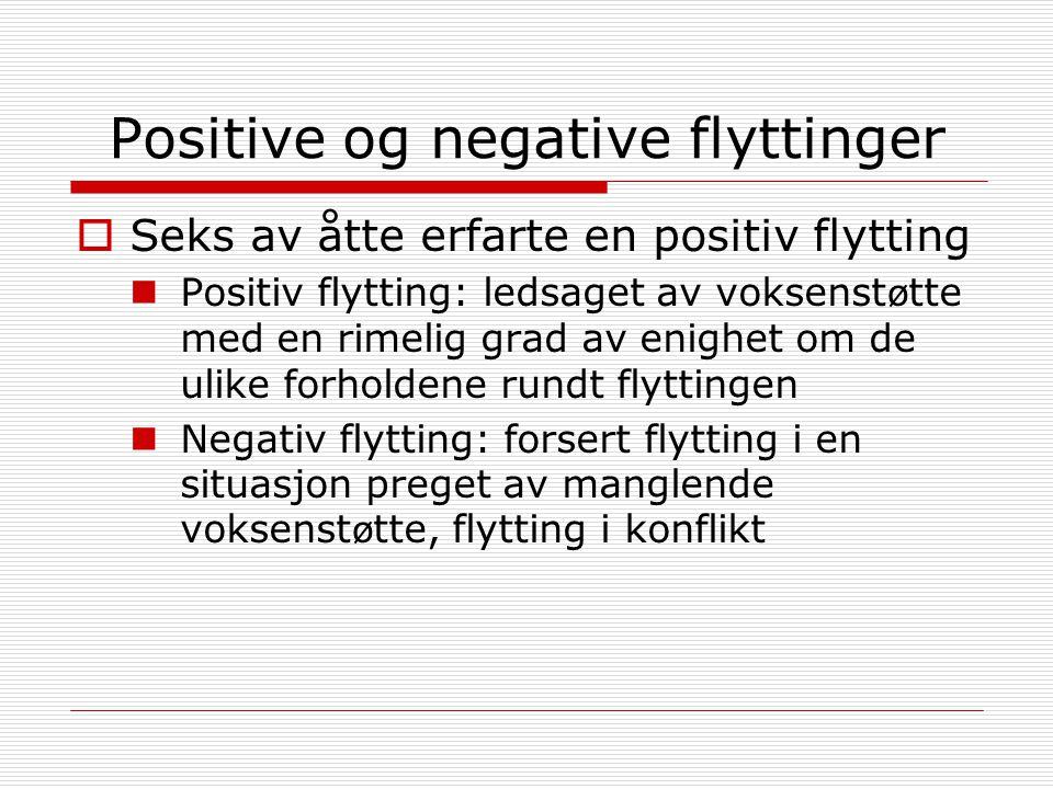 Positive og negative flyttinger