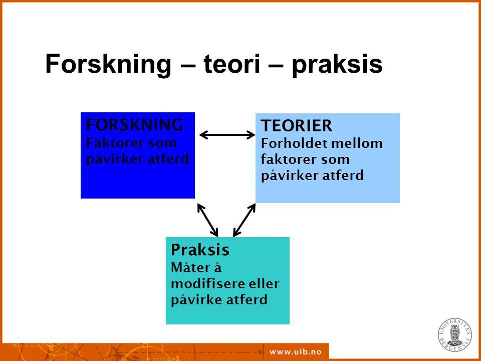 Forskning – teori – praksis