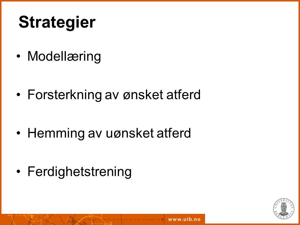 Strategier Modellæring Forsterkning av ønsket atferd